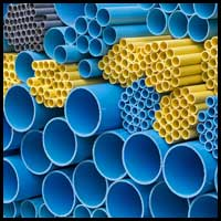 Sectdions of PVC pipe.